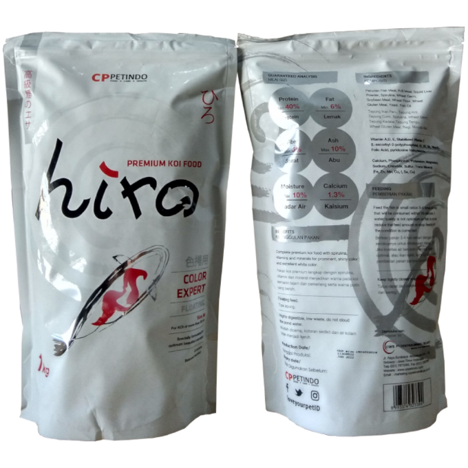 CPPETINDO Hiro Premium Koi Food - Color Expert Size M - Makanan Ikan Koi 1kg