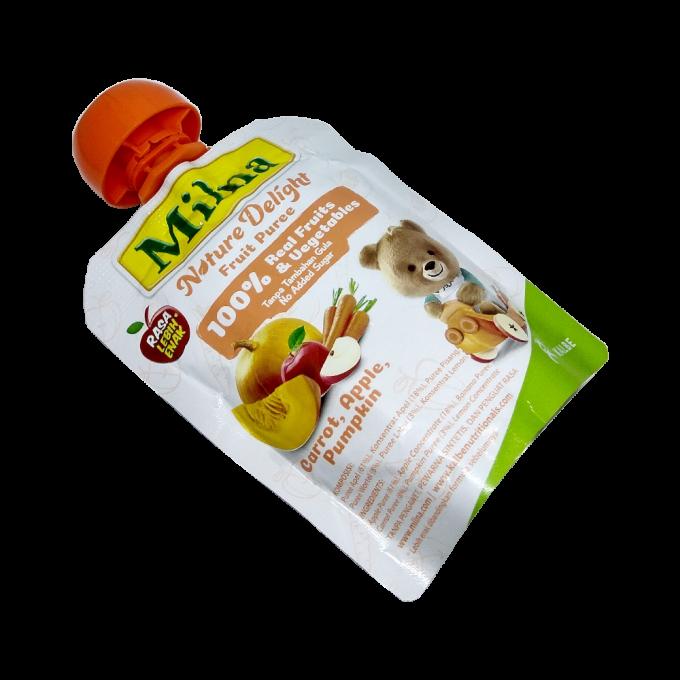 Milna Nature Delight Fruit Puree - Rasa Carrot, Apple, Pumpkin - 80gr